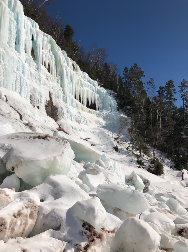 Recent Ice Fall