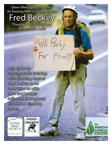 Fred Beckey Slide Show Tonight!