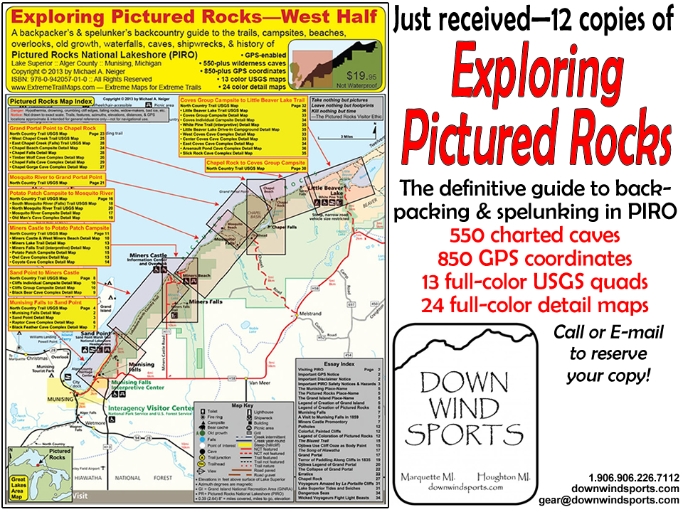 Pictured Rocks Michigan Map.Pictured Rocks Map