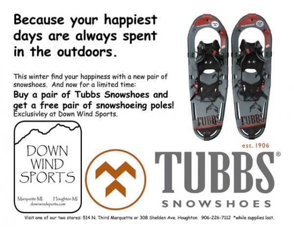 Free Snowshoeing Poles- While Supplies Last!