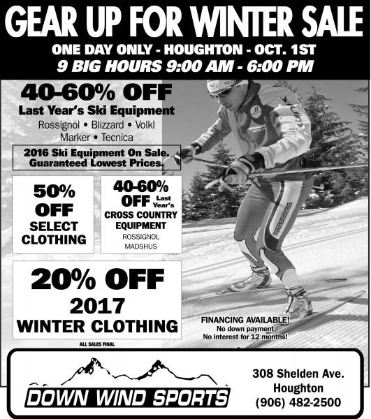 Really Big Sale Houghton Store October 1st